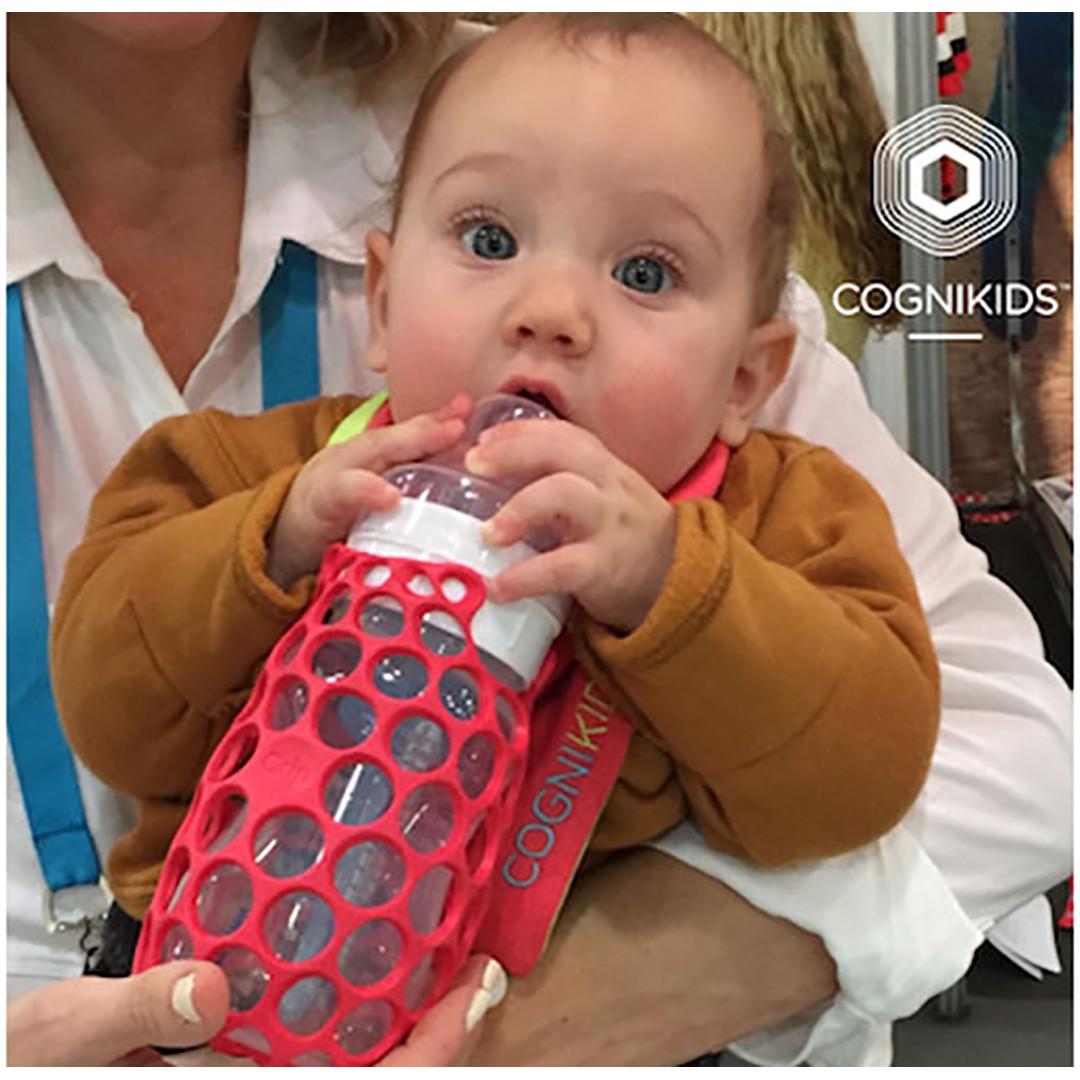 Cognikids Baby Bottle Grip® - Rose