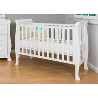 Br Baby Milan Sleigh Cot - White