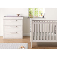 Mamas & Papas Atlas Cotbed & Dresser Package - Nimbus White