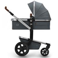 Joolz Day 2 Earth Pushchair + Carrycot + Footmuff + Cabriofix Car Seat + Easyfix Base - Hippo Grey