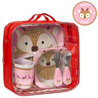 Skip Hop Winter Zoo Mealtime Set - Daisy Deer