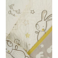 Bunny and Bird Hand Embroidered Coverlet