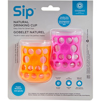 CogniKids- Natural Drinking Cup- Tangerine/Flamingo