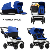Mountain Buggy Duet + Free Family Pack- Marine