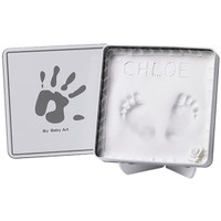 Baby Art Magic Box Precious Keepsake- White & Grey