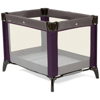 Mamas & Papas Classic Travel Cot- Plum/Grey
