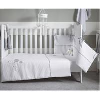 Clair De Lune Over The Moon Cot/Cot Bed Quilt & Bumper Bedding Set- Grey