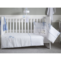 Clair De Lune Over The Moon Cot/Cot Bed Quilt & Bumper Bedding Set- Blue
