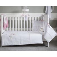 Clair De Lune Over The Moon Cot/Cot Bed Quilt & Bumper Bedding Set- Pink