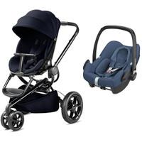 Quinny Moodd Stroller + FREE Maxi Cosi Rock Car Seat - Midnight Blue