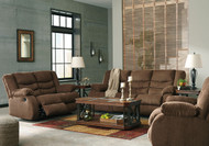Tulen Chocolate Reclining Sofa, Reclining Loveseat & Rocker Recliner