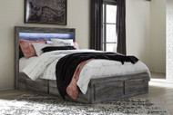 Baystorm Gray Queen Panel Storage Bed