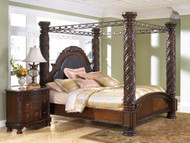 North Shore Dark Brown King Poster Bed