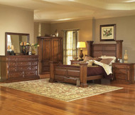 Torreon King Bedroom Group Pine SOLID WOOD SET LOVELY MESQUITE FINISH