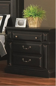 Torreon Nightstand Black