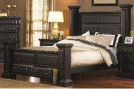 TORREON ANTIQUE BLACK QUEEN STORAGE BED    SAVE MORE PURCHASE THE COMPLETE GROUP!!!
