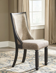 Tyler Creek Black/Gray Dining Upholstered Side Chair (2/CN)