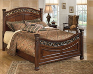 Leahlyn Warm Brown King Panel Bed