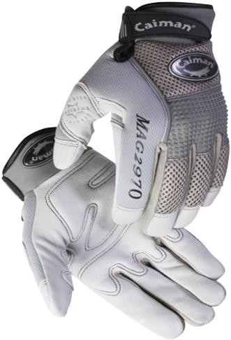 Caiman® Gray Deerskin Leather Mechanics Gloves  ##2970 ##