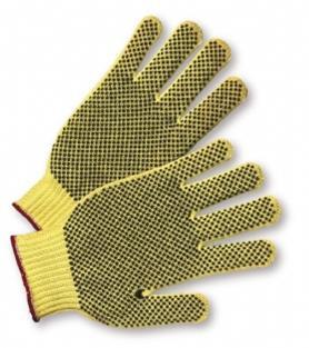 PVC Palm Dot Kevlar® String Knit Gloves  ##KV100 ##