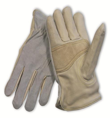 Premium Cowhide Grain Palm Split Leather Back Work Gloves  ##6487 ##