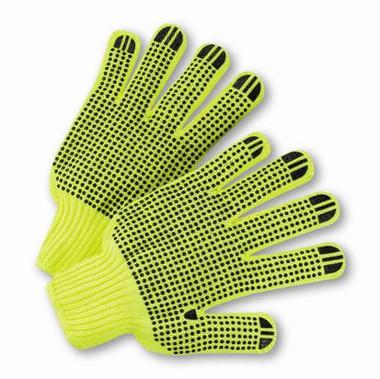 Hi-Vis Reverse PVC Palm Dot String Knit Gloves  ##RD300 ##