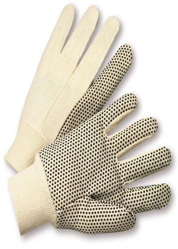 PVC Dot  8oz Cotton Canvas Work Gloves  ##330 ##