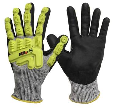 Dyneema Micro Nitrile Palm Coated Cut / Impact Gloves  ## RWGD110 ##