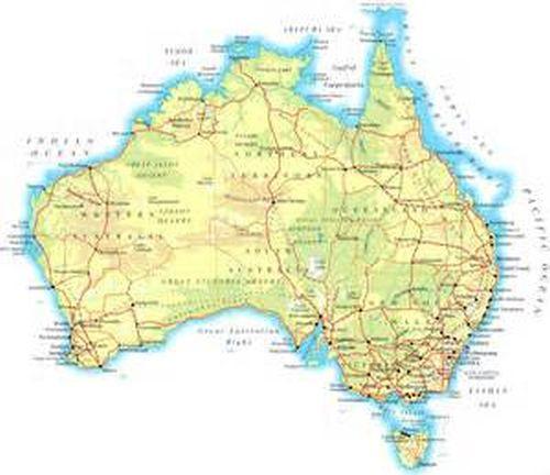 Full Map Of Australia.Full Topographic Map Card For Garmin Alpha100 Australia Aussie