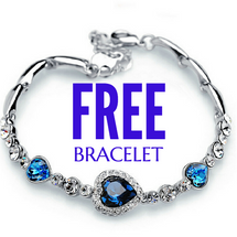 Attractive Heart Crystal Ocean Blue Bracelet