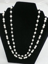 Two Strand Pearl and Crystal Necklace