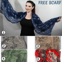 FREE GIFT FOR YOU - you just pay Post and Packaging - You will ♥ this  Super Soft Chiffon/Voile Scalf  Drapes beautifully - will enhance any outfit. You can wear in lots of different ways   In attractive Colours and patterns These scarves are so soft and easy to wear - you will love it!  Size: Approximately 76cm x 160cm Choose your colour and pattern -   on checkout