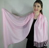 "High Quality Pashmina ""Pretty in Pink""  Scarf 30%Silk/70% Pashmina"