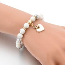 Natural Stone and Austrain Crystal Bracelet