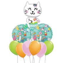 Mermaid Kitty Selfie Party Balloon Bouquet