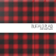 Buffalo Plaid Craft Vinyl - 3 Pack