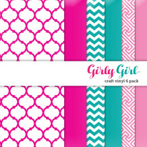 Girly Girl Craft Vinyl - 6 Pack
