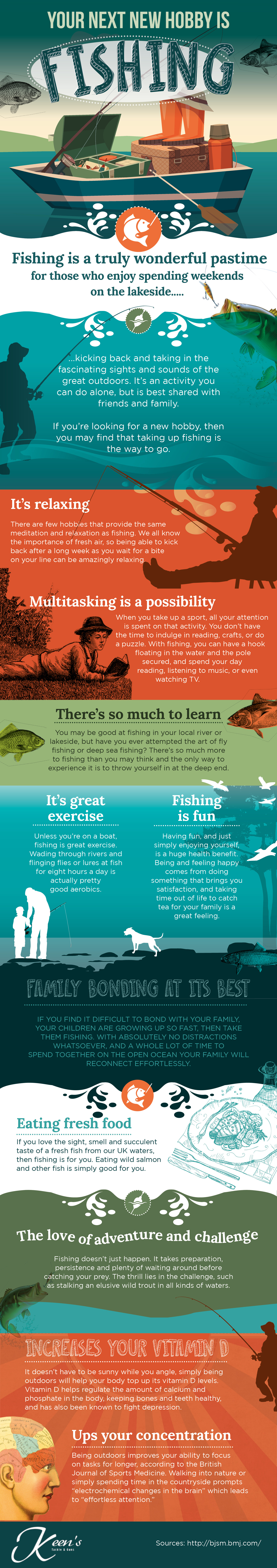 Why You Should Take Fishing up as a Hobby Infographic