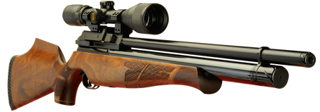 Keen's Tackle & Guns Stock The Air Arms S510 Beech Multi-Shot Air Rifle with fully shrouded barrel and 10 shot magazine.