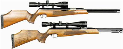 Keen's Tackle & Guns Stock The Air Arms TX 200/ TX200 HC Beech Air Rifle with a direct barrel loading built-in moderator.