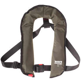 Keen's Tackle & Guns stock the Airflo Wavehopper Life Jacket with automatic manual back up and 150 newtons of buoyancy.