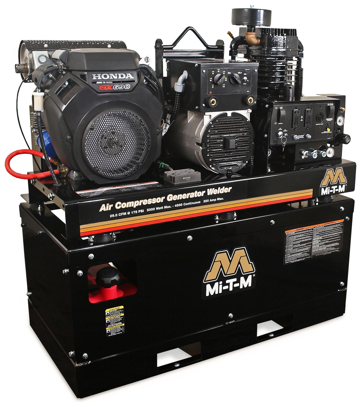 Mi T M Agw Sh22 20m Air Compressor Generator Welder