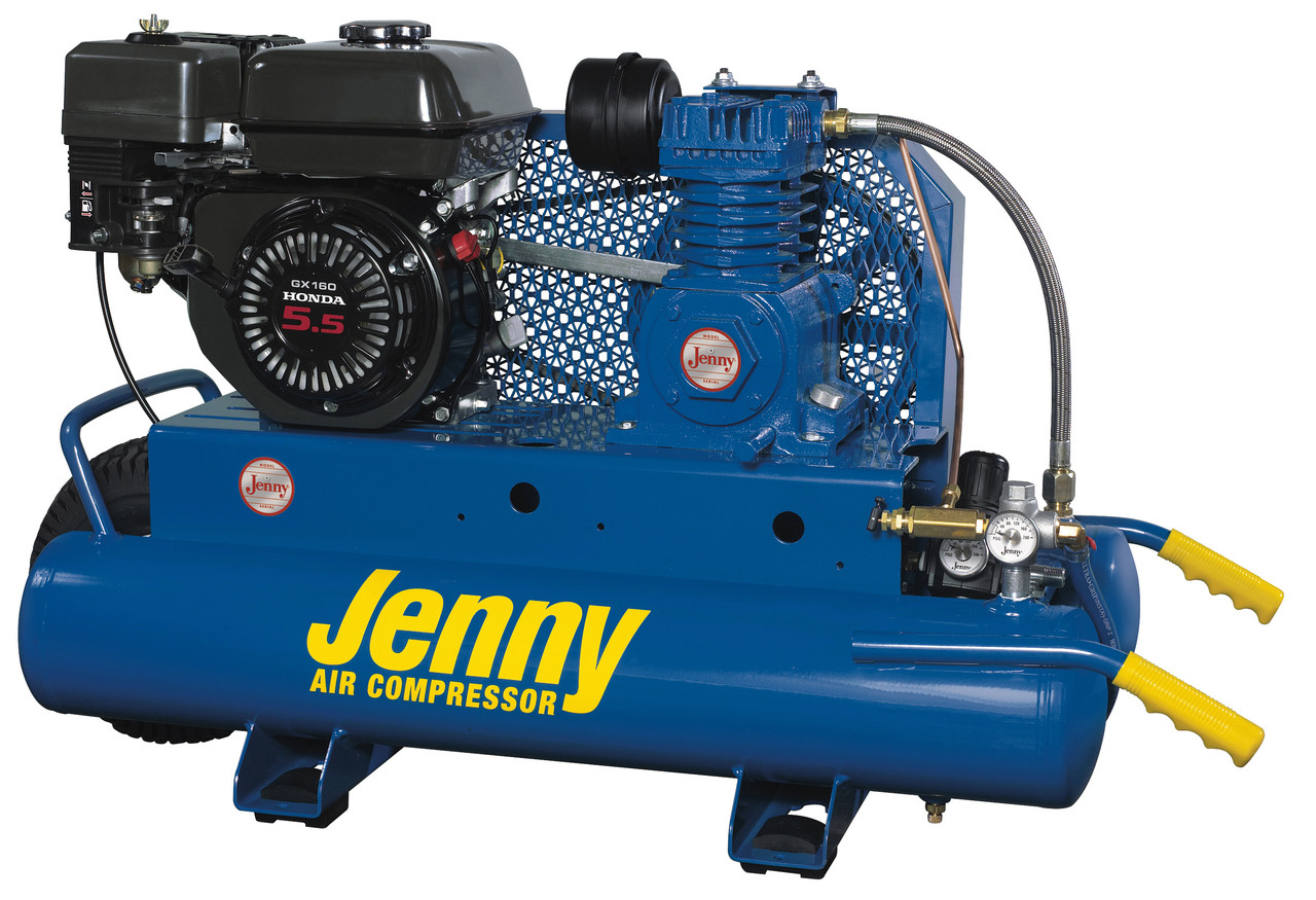 Jenny K5hga 8p 5 5hp Honda Gas Drive Portable Air Compressor