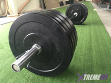 Olympic Bar and 100 KG Bumper Set