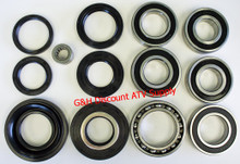 Honda TRX 400 Rancher COMPLETE Rear Differential & Wheel Bearing Seal Kit *FREE U.S. SHIPPING*