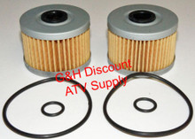 TWO 2007-2011 Honda TRX420 Rancher (NON IRS) OIL FILTERS WITH O-RINGS *FREE U.S. SHIPPING*