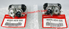 NEW OE Honda 1993-2000 Honda TRX 300 Fourtrax 2x4 SET of TWO Front Brake Wheel Cylinders *FREE U.S. SHIPPING*