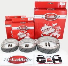 FRONT & REAR WATER GROOVED BRAKE SHOES SET +SPRINGS for the Honda 1985-1988 TRX 125 Fourtrax