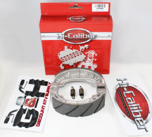 WATER GROOVED FRONT BRAKE SHOES & SPRINGS SET for the Honda ATC 125M 185 185S 200 200E 200M 200S 200ES Big Red Three-wheel ATVs