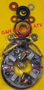 1987-1988 Honda TRX125 Fourtrax FOUR BRUSH Starter Rebuild Kit *FREE U.S. SHIPPING*